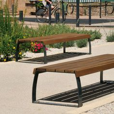 Public bench / contemporary / steel / concrete BERNE AREA