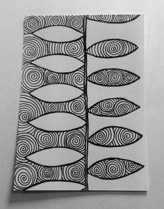 Zentangles. Positive/Negative Space
