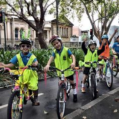 Kids sharing the bike lanes from @sydneycycleways for Ride2School day 2015