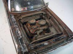1964 Dodge 330 Sedan Custom Weathered Barn Find Drag Car Rat Rod 1 18 Highway 61