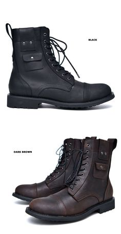 Shoes :: Cargo Pocket Vintage Biker Boots-Shoes 532 - GUYLOOK Men's Trendy…