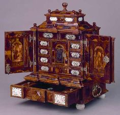 'The Amber Cabinet', made in Poland about 1700. http://www.liverpoolmuseums.org.uk/walker/collections/highlights/item.aspx?tab=summary&item=WAG+2002.12&hl=1&coll=14