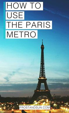 How to use the Paris Metro to get around the city and beyond. Plus the 1 app you need that will help you avoid getting lost! #parismetro #paris #france