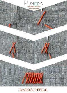 Pumora's embroidery stitch-lexicon: the basket stitch