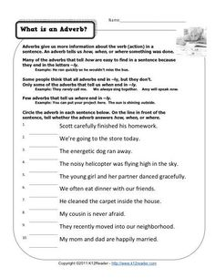 What is an Adverb? | Free, Printable Adverb Activities