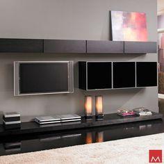 Modern version of a wall unit Modern Wall Units, Modern Tv, Modern Living, Modern Decor, Modern Contemporary, Modern Furniture Online, Contemporary Furniture, Entertainment Wall Units, Modern Fireplace