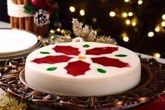 Gelatina de leche en forma de Nochebuena que sorprenderá a todos en Navidad