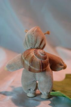Vineyard Snail Flower Child Waldorf by KatjasFlowerfairys, €31.00 { adorable! Maybe i can figure out how to sew one..? }