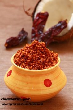 chammanthi podi is a tasty side dish for rice idli dosa made with roasted coconut and other spices.It is very tasty and a special recipe from Kerala cuisine Podi Recipe, Masala Recipe, Healthy Indian Recipes, Kerala Recipes, Vegetarian Recipes, Kerala Food, South Indian Food, Chutney Recipes, Chaat