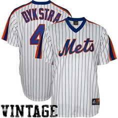 Majestic Lenny Dykstra New York Mets Replica Cooperstown Throwback Jersey -  White Pinstripe Lenny Dykstra 79eb04f2b