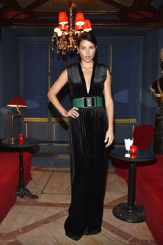The best looks from the front rows at Milan Fashion Week: Adriana Lima