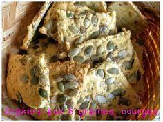 Crackers aux graines, courges, farine de pois chiche