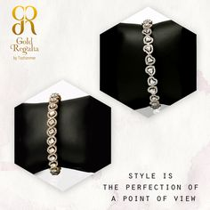 Style is the perfection of a point of view Buy #BraceletsOnline with us : https://goo.gl/0k8P9M #Bangle #Necklace #Diamond #DiamondJewelry #DiamondRing