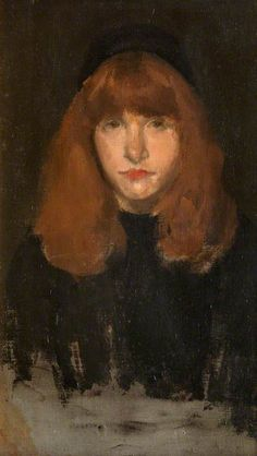 Portrait by James Abbott McNeill Whistler Art Photography Portrait, Portraits, Portrait Paintings, James Abbott Mcneill Whistler, Redhead Art, Fawn Colour, Art Uk, Art For Art Sake, Your Paintings
