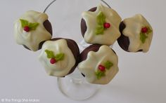 Christmas Pudding Cupcakes and Cake Pops