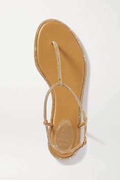 Shoes Flats Sandals, Flat Sandals, Leather Sandals, Heels, Diana, Rene Caovilla Shoes, How To Make Shoes, Fashion Flats, Metallic Leather