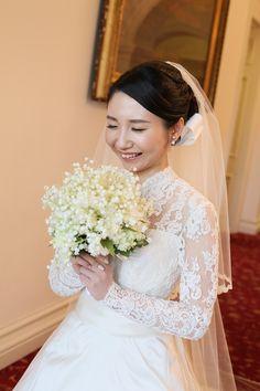 綱町三井倶楽部の花嫁様、 秋、10月に鈴蘭のブーケを持ちたいというご希望でした。  メールとお写真を、 許可を得てご紹介させていただきます。 ...