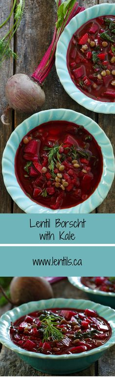 Lentil Borscht with Kale | lentils.ca (Gluten-Free/Lactose-Free)