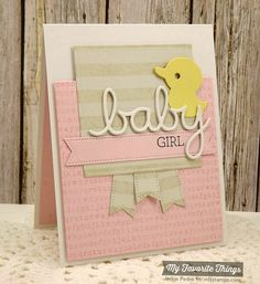 Beautiful Baby, Striped Background, Typewriter Text Background, Blueprints 12 Die-namics, Oh Baby Die-namics, Pierced Fishtail Flags STAX Die-namics - Jackie Pedro #mftstamps