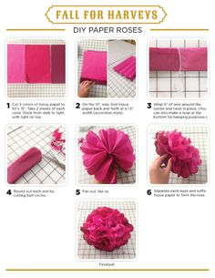 Make some awesome DIY paper roses!