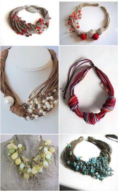 Интересные варианты текстильных украшений