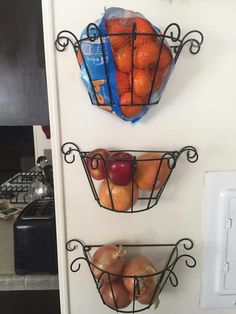 Plant stands turned into fruit baskets. DIY Dollar Tree