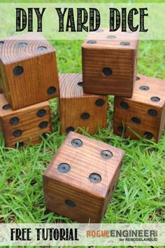 Make your own fun and memories this summer with a set of DIY yard dice to use for dozens of outdoor games for family and kids! Use inexpensive 4x4s or even scraps for a cheap weekend project or gift idea.