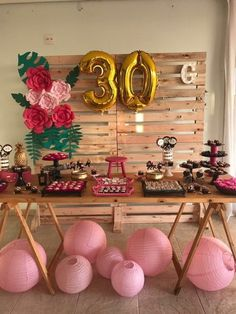 Ideas For Birthday Party Woman 30th Party, 30th Birthday Parties, Luau Party, Birthday Party Decorations, Pink Flamingo Party, Tropical Party, Its My Bday, Birthday Pictures, Holidays And Events