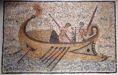 GREEK SHIP MOSAIC, c. 1st century BC - AD