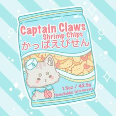 Captain Claws is back from his tuna expedition and has brought with him a giant haul of fantastic shrimp!! 🍤💕💕 • • • #artdroplet #hikkie_… Wallpapers Kawaii, Kawaii Wallpaper, Cute Cartoon Wallpapers, Doodles Kawaii, Kawaii Art, Cute Food Drawings, Cute Animal Drawings Kawaii, Cute Art Styles, Cartoon Art Styles