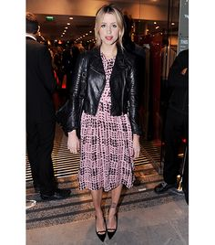 @Who What Wear - 1. Balance Sweet & Tough  Crafting the perfect date night look boils down to one tenet: balance. Not too sexy, not too sweet; not too revealing, not too covered up. You get the point. At a TK Maxx store opening in London, Peaches Geldof demonstrated her grasp of the concept by pairing ladylike slingbacks and a print dress with an edgy moto jacket.