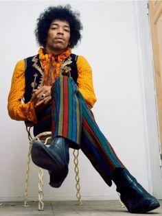 Jimi in stripey strides...Timeless Jimi...