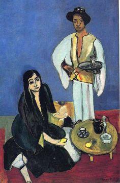 """Coffee, 1916, Henri Matisse Size: 100.7x65.4 cm Medium: oil on canvas"""