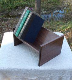 The BlackWater Book Rack  Black Walnut Book by BlackWaterWorkshops, $33.00