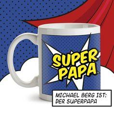 Wenn auch Dein Vater immer für Dich da und eine echter Super Papa ist, dann überrasche ihn doch mit dieser personalisierten Tasse für Superhelden :) via: www.monsterzeug.de