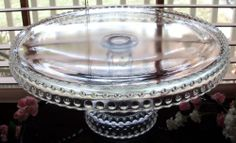 Le Smith Hobnail Clear Cake Stand