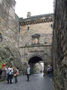Edinburgh Castle Portcullis Gate ...wow...it's like being LOST in time