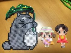 Totoro perler beads by r.n.a_mama