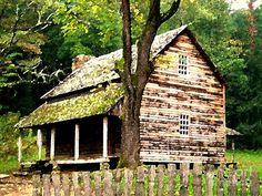 appalachian art   Appalachian Cabin Photograph - Appalachian Cabin Fine Art Print