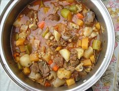 Diabetic Beef Stew from Food.com:   This is posted in response to a request for a stew that was low in fat, low in high-glycemic carbohydrates, and high in fibre. I think this fits the bill.