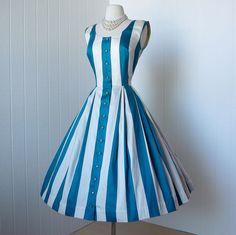 vintage 1950's dress ...peggy hunt designer PAT PREMO by traven7