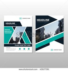 Green black annual report Leaflet Brochure Flyer template design, book cover layout design, abstract business presentation template, a4 size design vector