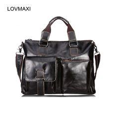 LOVMAXI New genuine leather shoulder bags Man's oil leather handbags Men messenger bag large capacity causal Male business bag