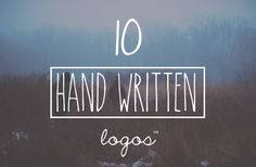 Vintage Handwritten 10 Logo Bundle by Maroon Baboon on Creative Market