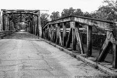 An abandoned bridge in Columbus, Mississippi. Taken in August 2011.