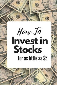 How to Invest in Stocks for as little as $5 -  Investing for Beginners