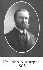 John Benjamin Murphy, born John Murphy[1] (December 21, 1857 in Appleton, Wisconsin – August 11, 1916 Mackinac Island, Michigan), was an American physician and abdominal surgeon noted for advocating early surgical intervention in appendicitis appendectomy