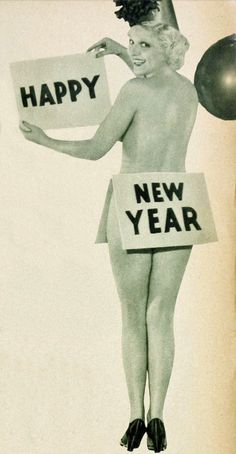 "Thelma White (1910-2005) wishes the readers of ""Hollywood"" magazine a scantily clad Happy New Year, January 1934"
