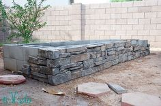 Tutorial for building a raised garden bed or herb garden using concrete cinder blocks and stone veneer. It's an easy DIY project that doesn't require any special masonry skills. raised bed concrete How to Build a Raised Garden Bed Tutorial Diy Garden, Garden Boxes, Garden Projects, Herbs Garden, Garden Soil, Raised Herb Garden, Building A Raised Garden, Diy Raised Garden Beds, Raised Bed Gardens