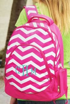 Chevron Backpack PERSONALIZED by PartyStitches on Etsy 581b1cb16e33e